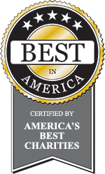 """Best in America"" seal from America's Best Charities"