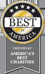 """Best in America"" seal from America's Best Charities"